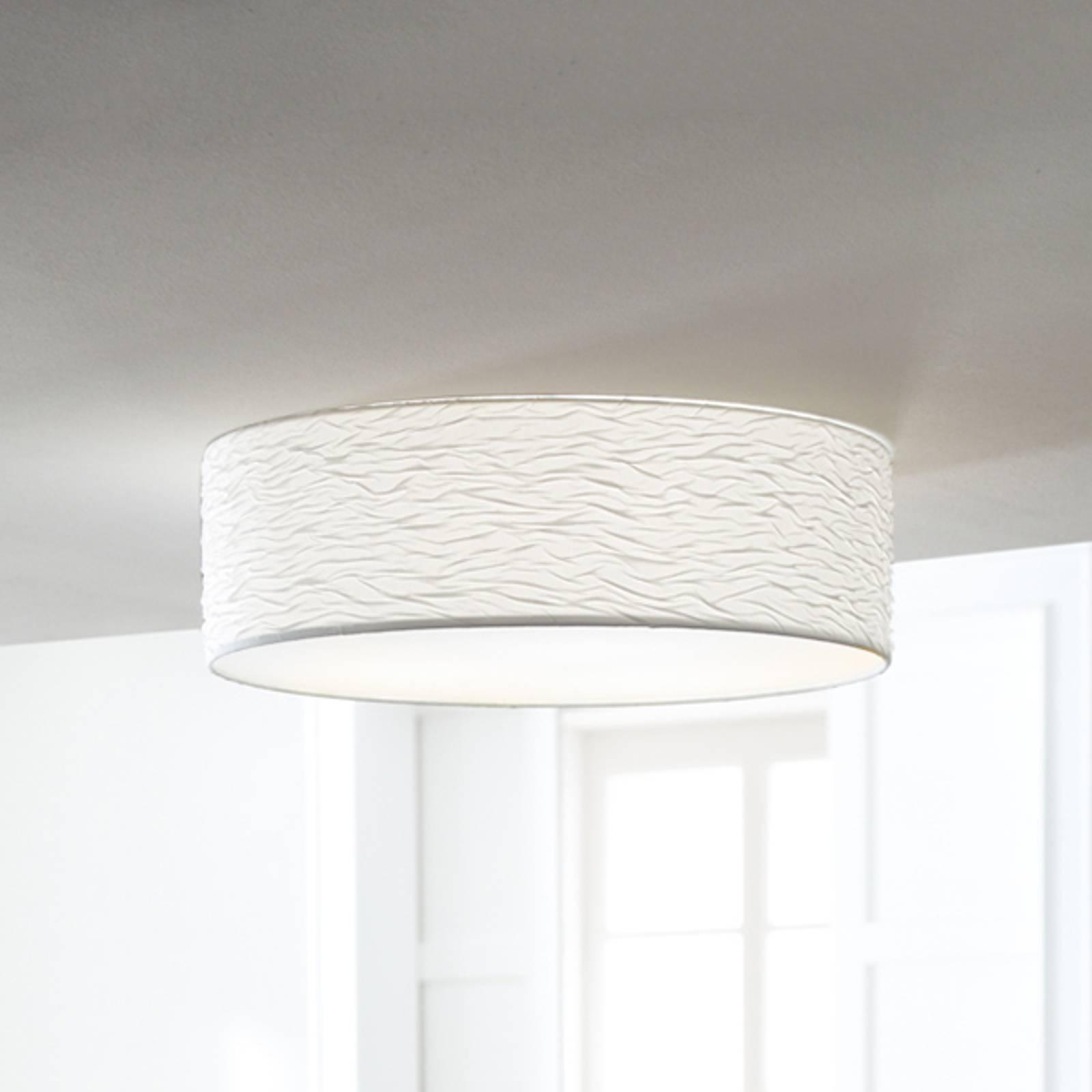 Biała lampa sufitowa Vita 3 z ładnymi falami