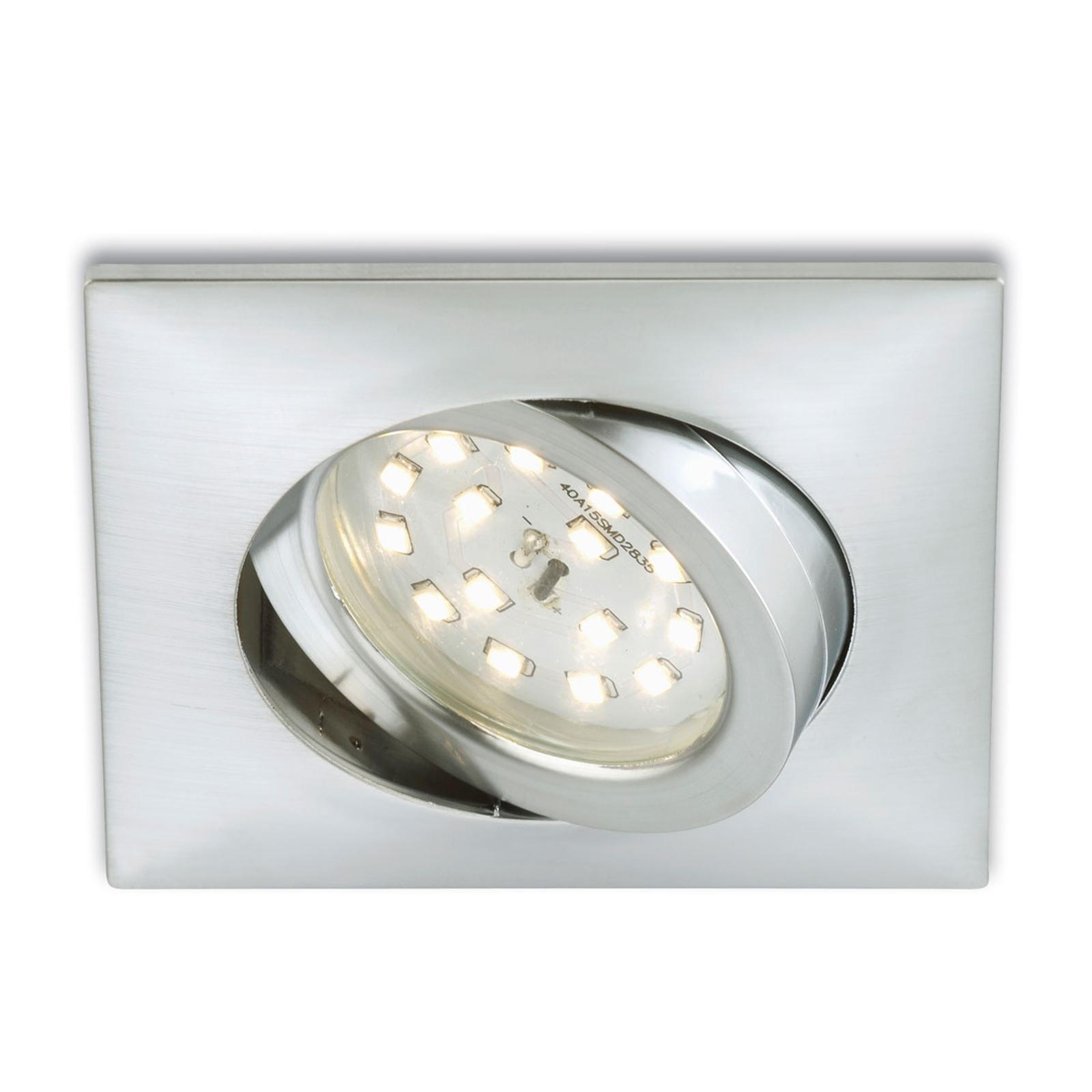 Inbyggnadsspot Erik LED kantig - aluminium
