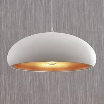 Metalen plafondlamp Gerwina, wit-goud