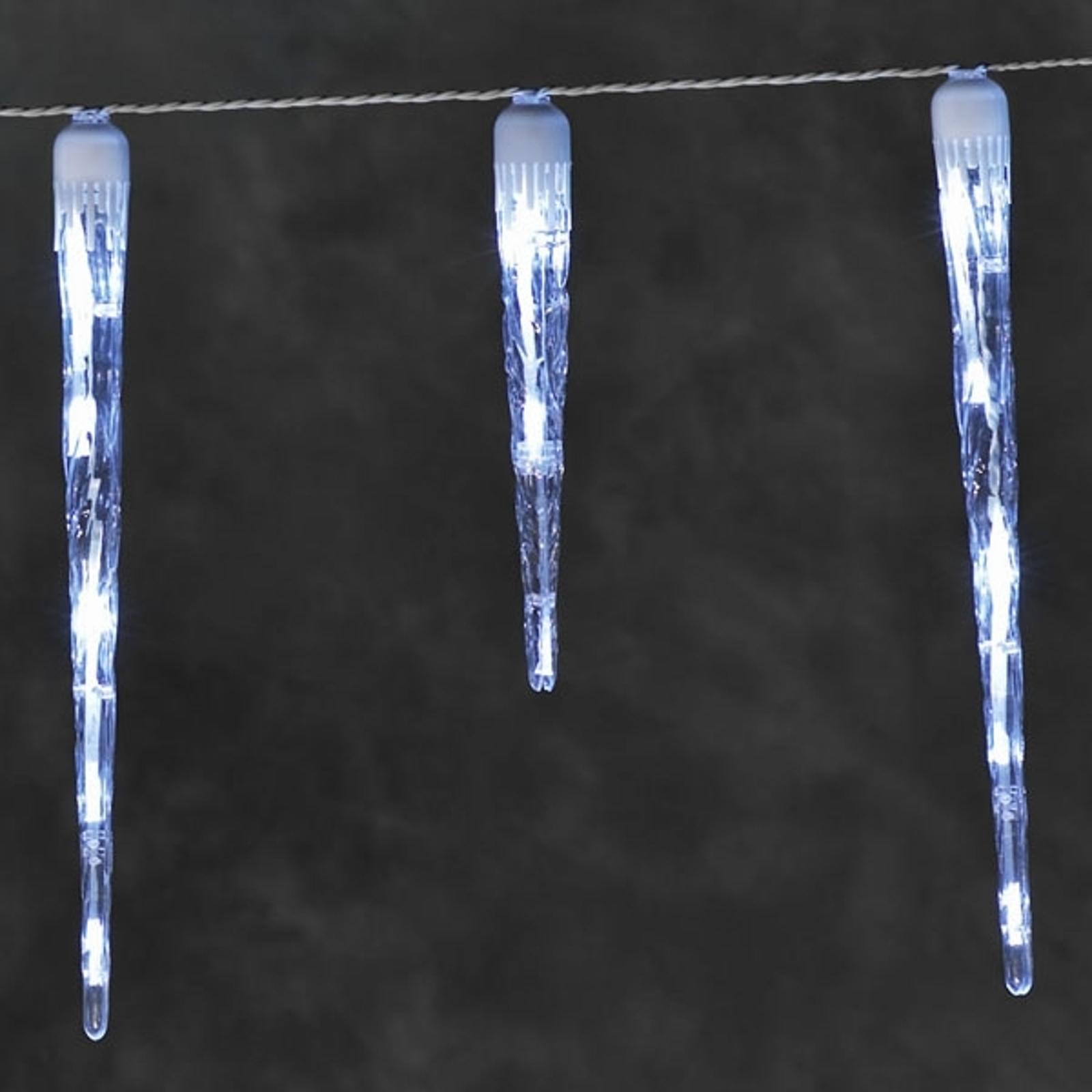 LED lysgardin istapper med 16 tapper 3,75m