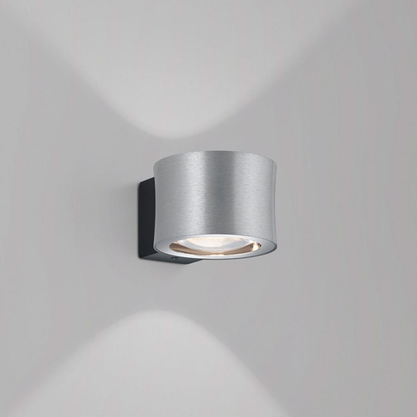 BANKAMP Impulse LED-Wandleuchte 1-flammig nickel