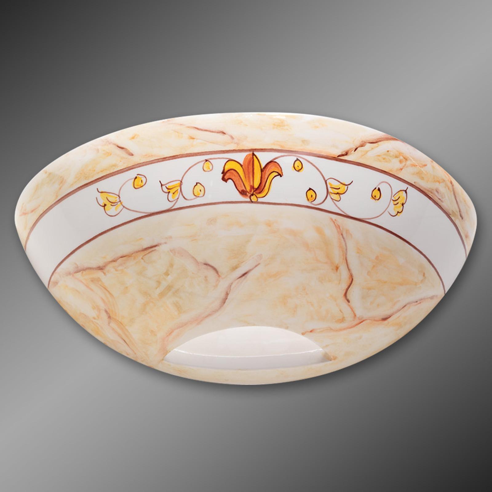 Keramikvägglampa Marmorino ockra
