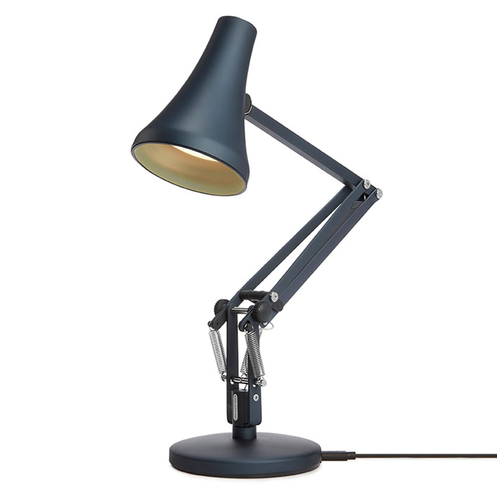 Anglepoise 90 Mini Mini lampe table LED bleu acier