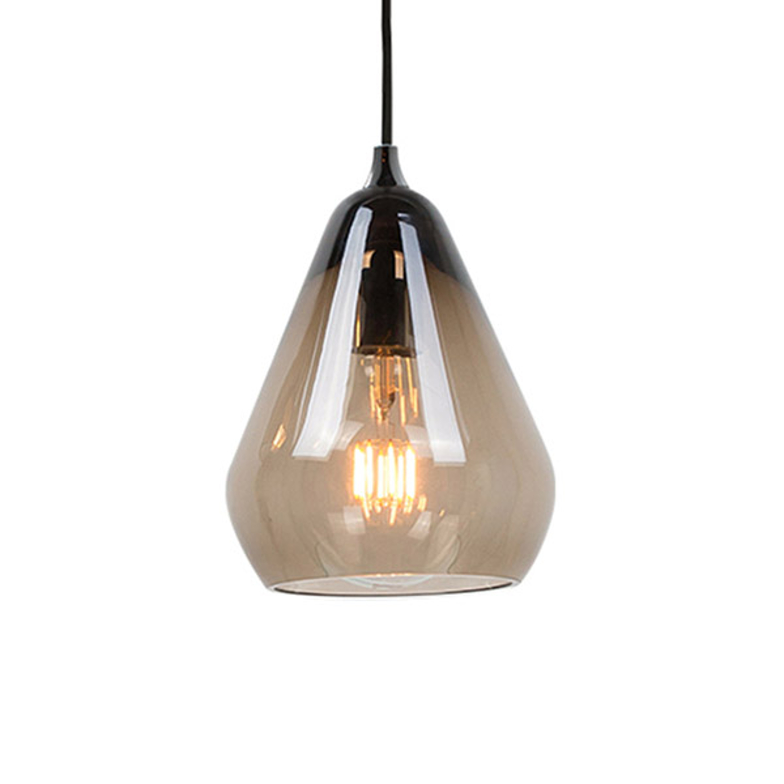 Innermost Core 20 - szklana lampa wisząca, szara