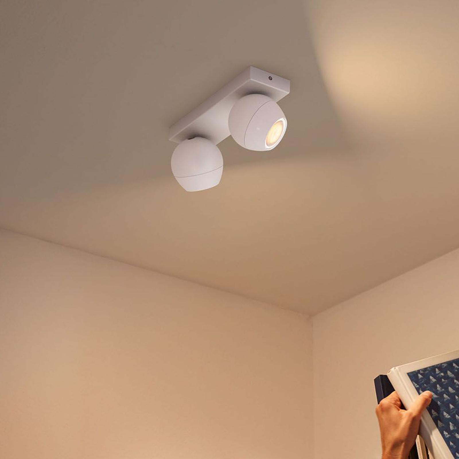 Philips Hue Buckram 2 lyskilder dæmperkontakt hvid