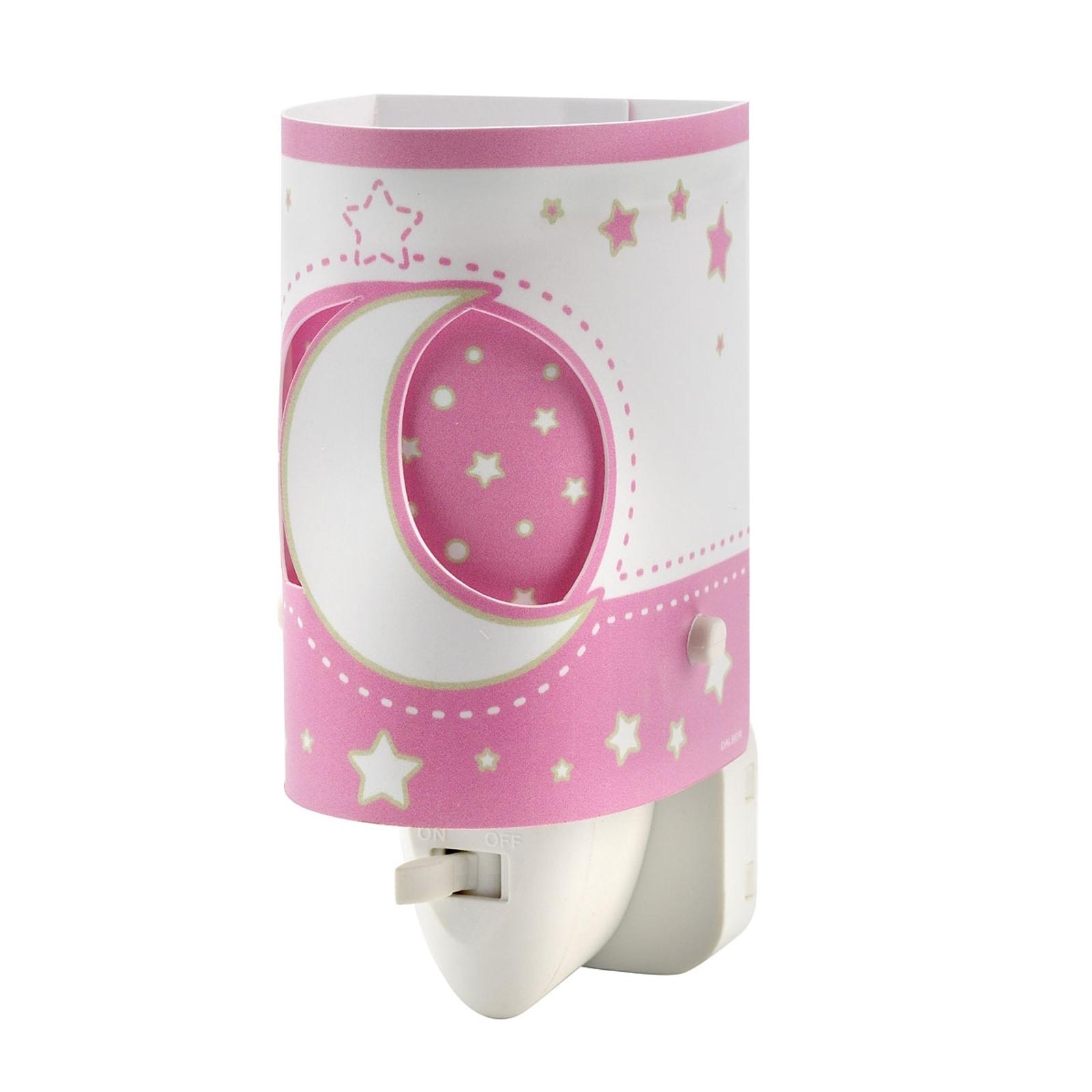 Babygerechtes LED-Nachtlicht Stars rosa