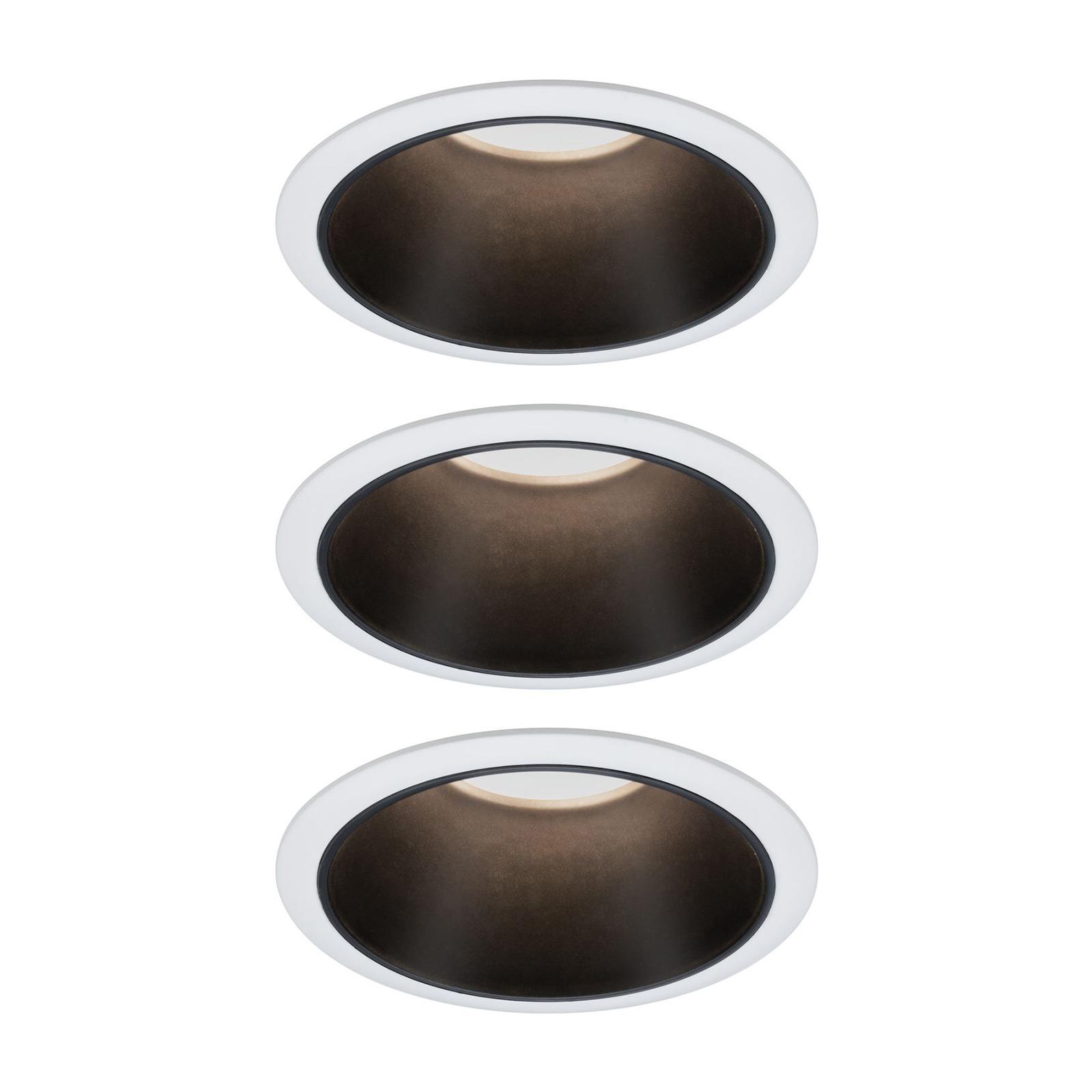 Paulmann Cole LED-spot, svart-hvit, 3-er-sett