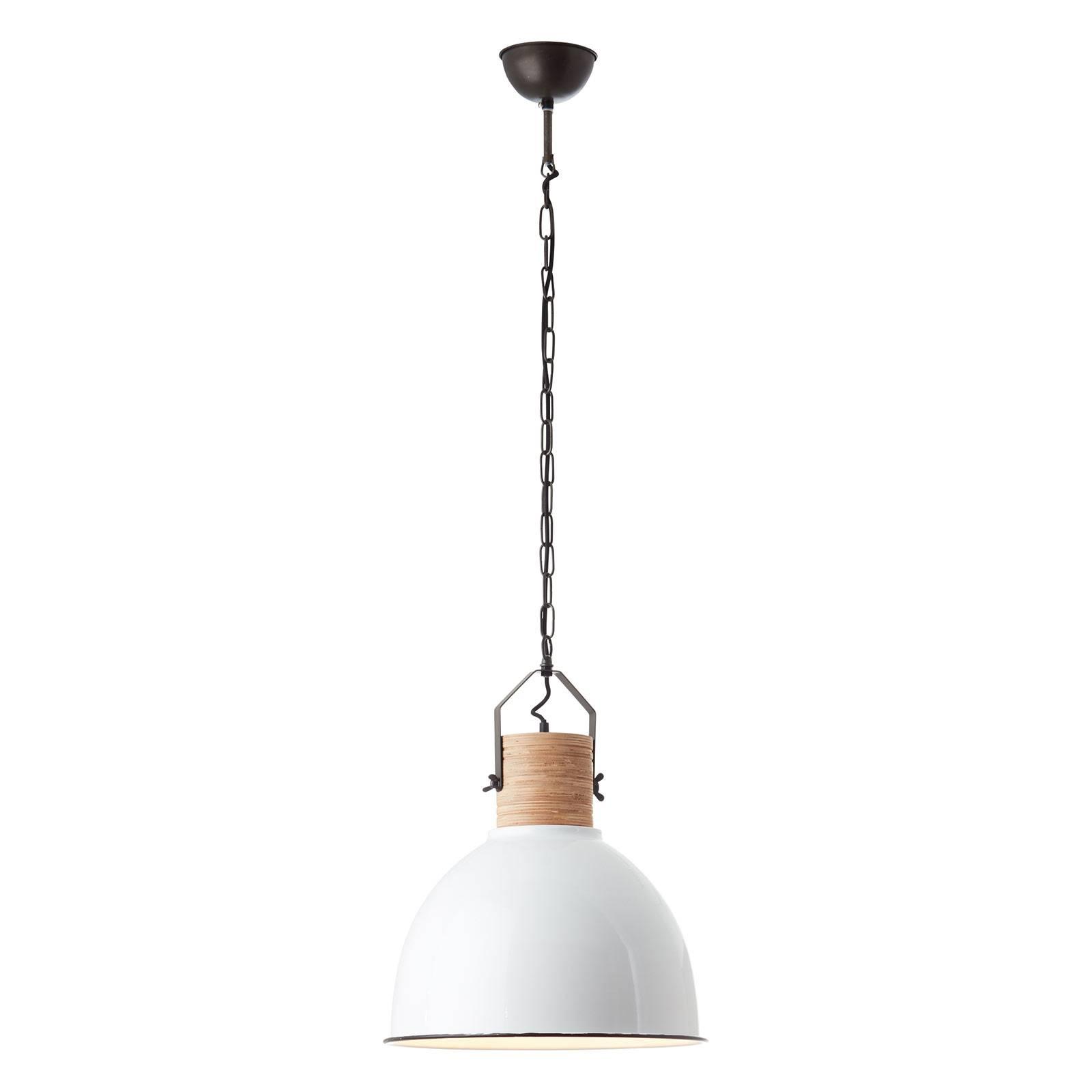 Lampa wisząca Barrow z drewnianą oprawą