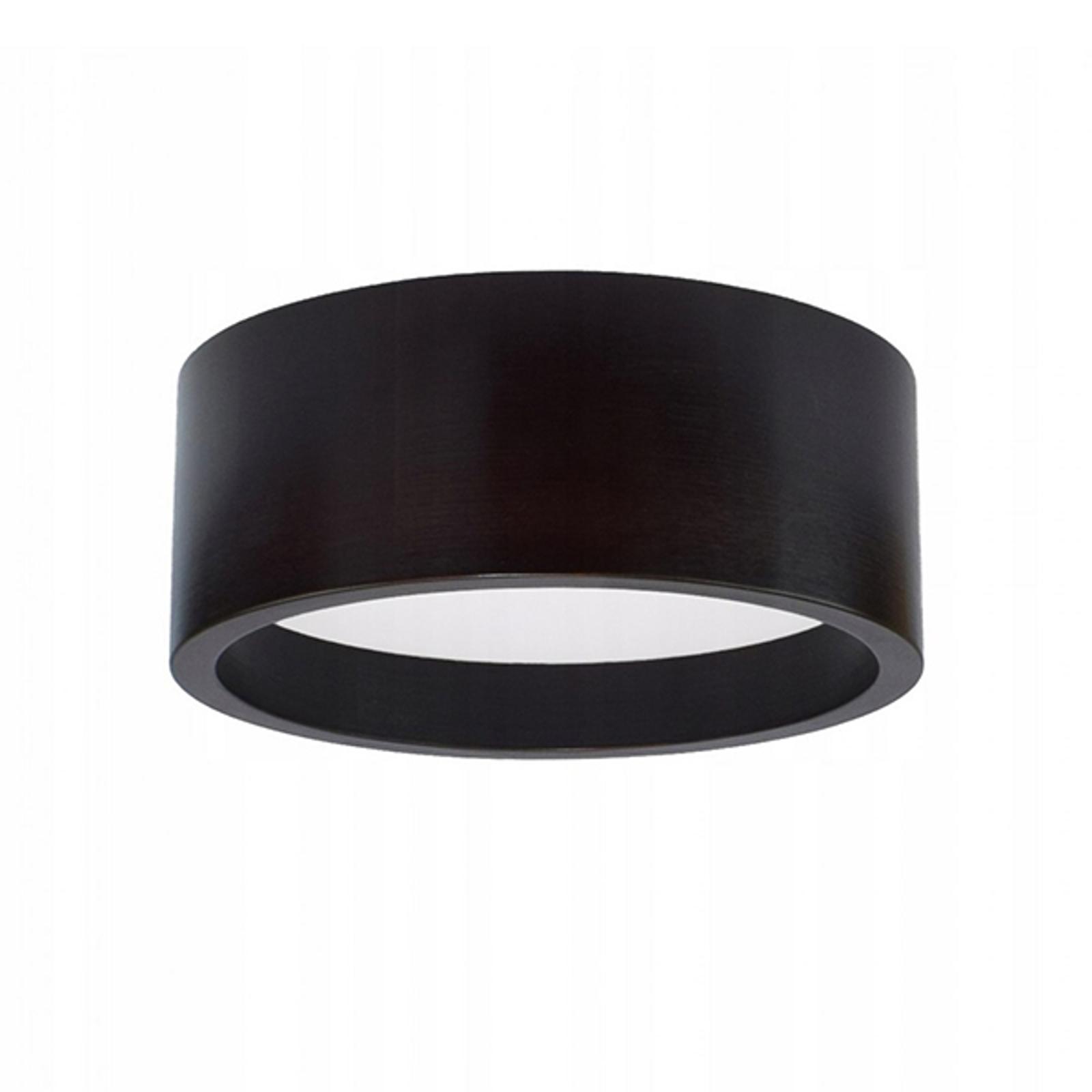 Plafonnier LED Deep, Ø 28cm, noir