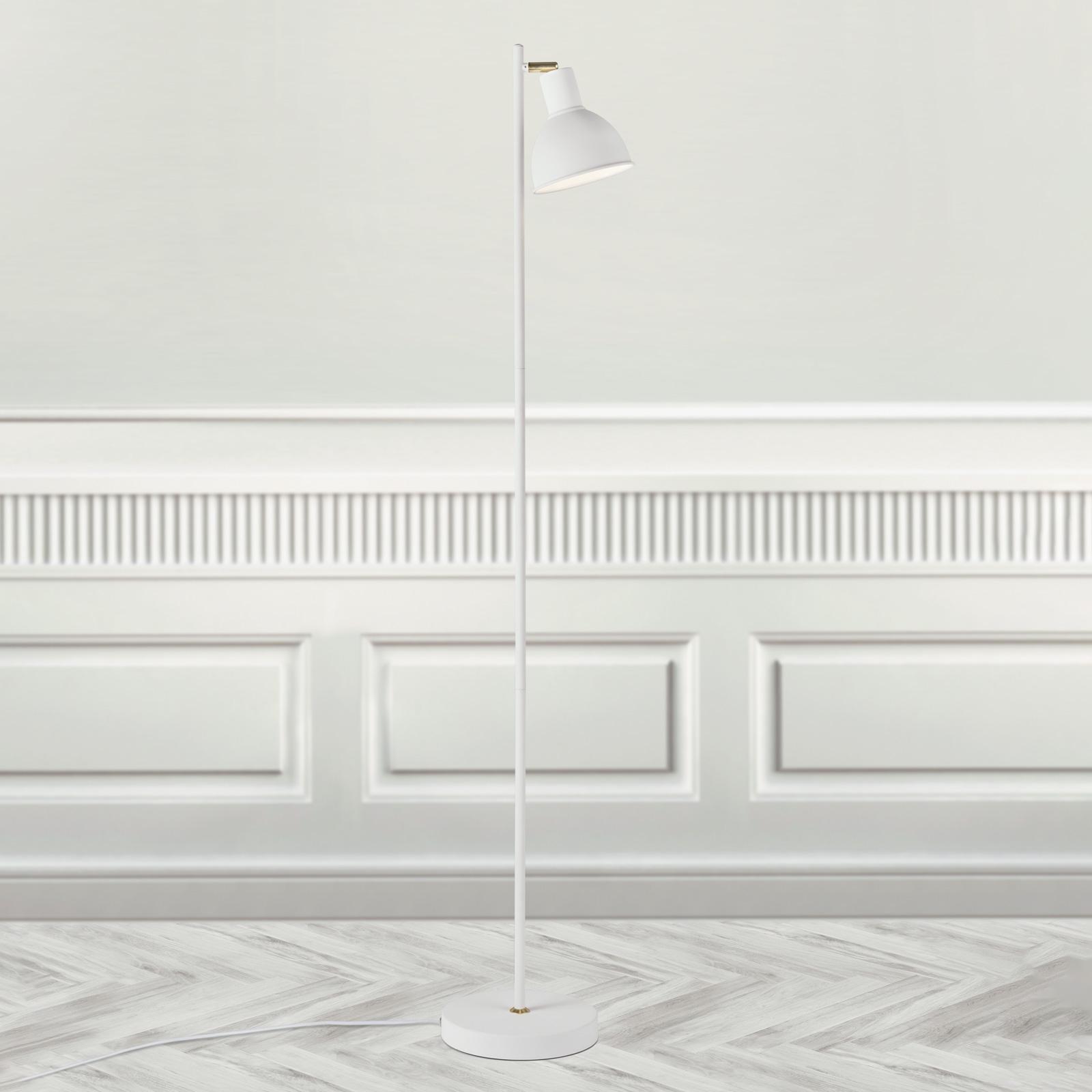 Lampada da terra Pop di design agile, bianco