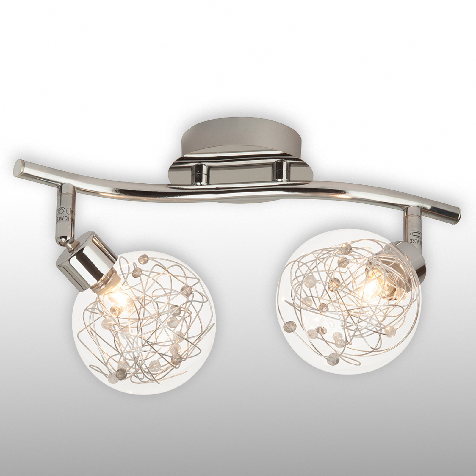 Tweelamps plafondlamp Joya