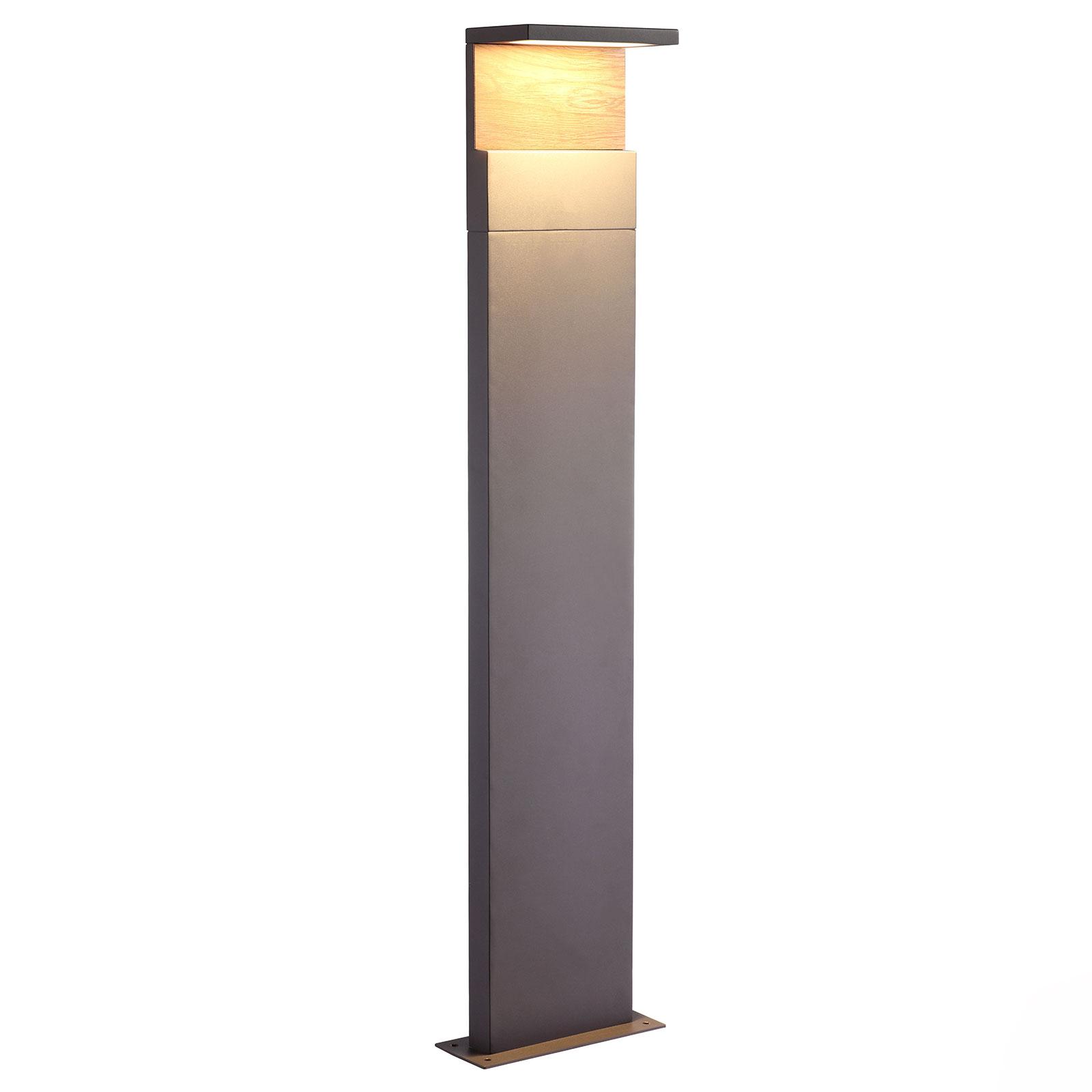 Słupek oświetleniowy LED Ruka, drewno, 100 cm