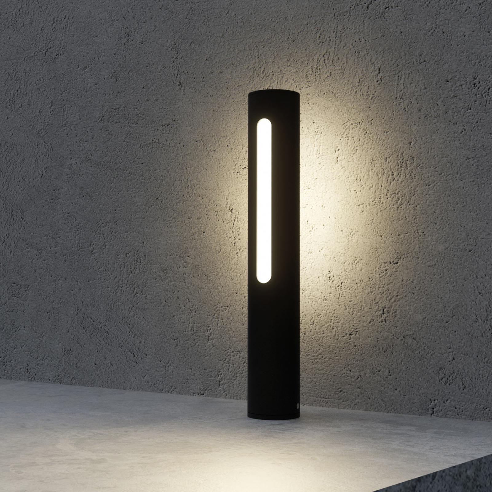 Tomas - potelet LED en gris foncé