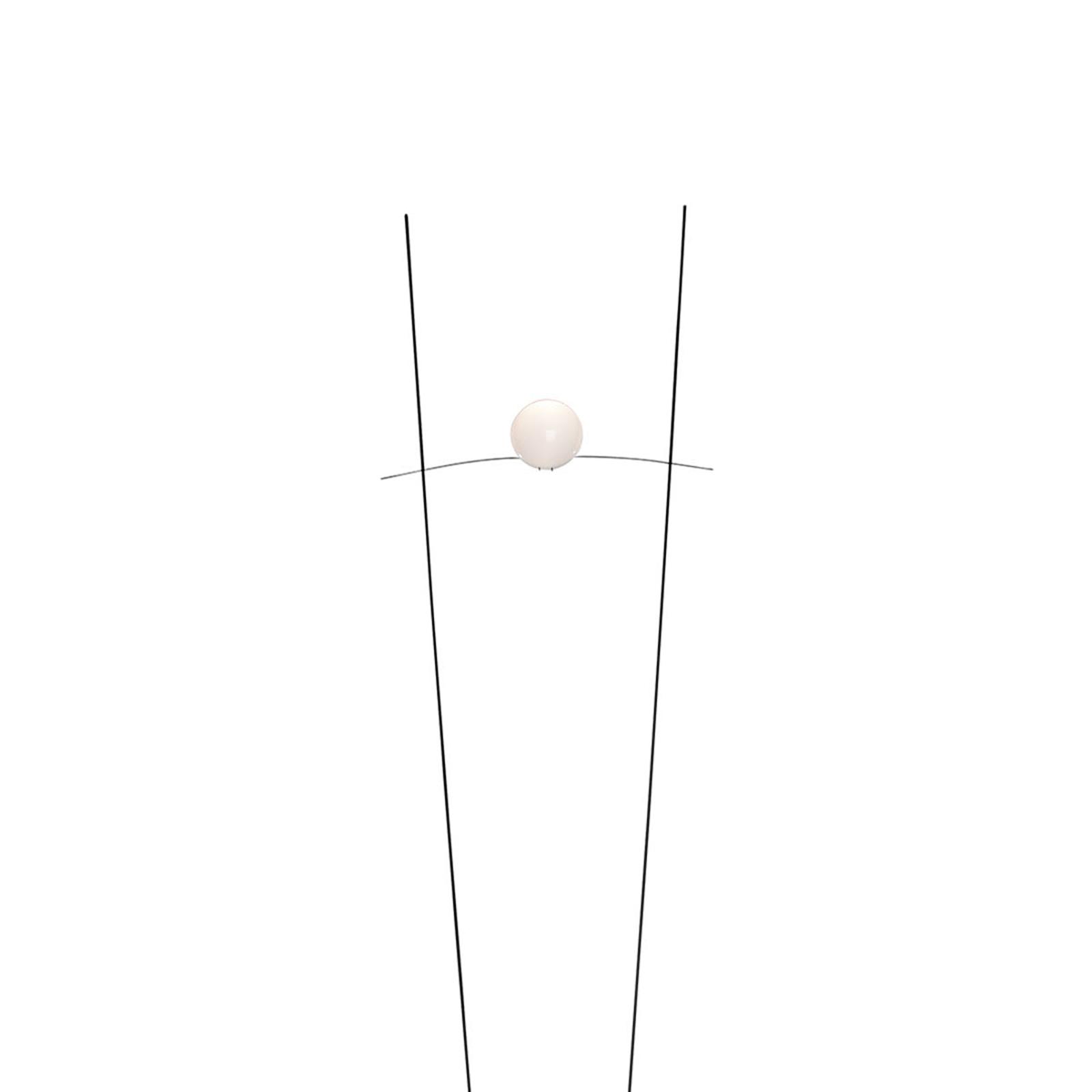 Graciös designgolvlampa Ilios, svart