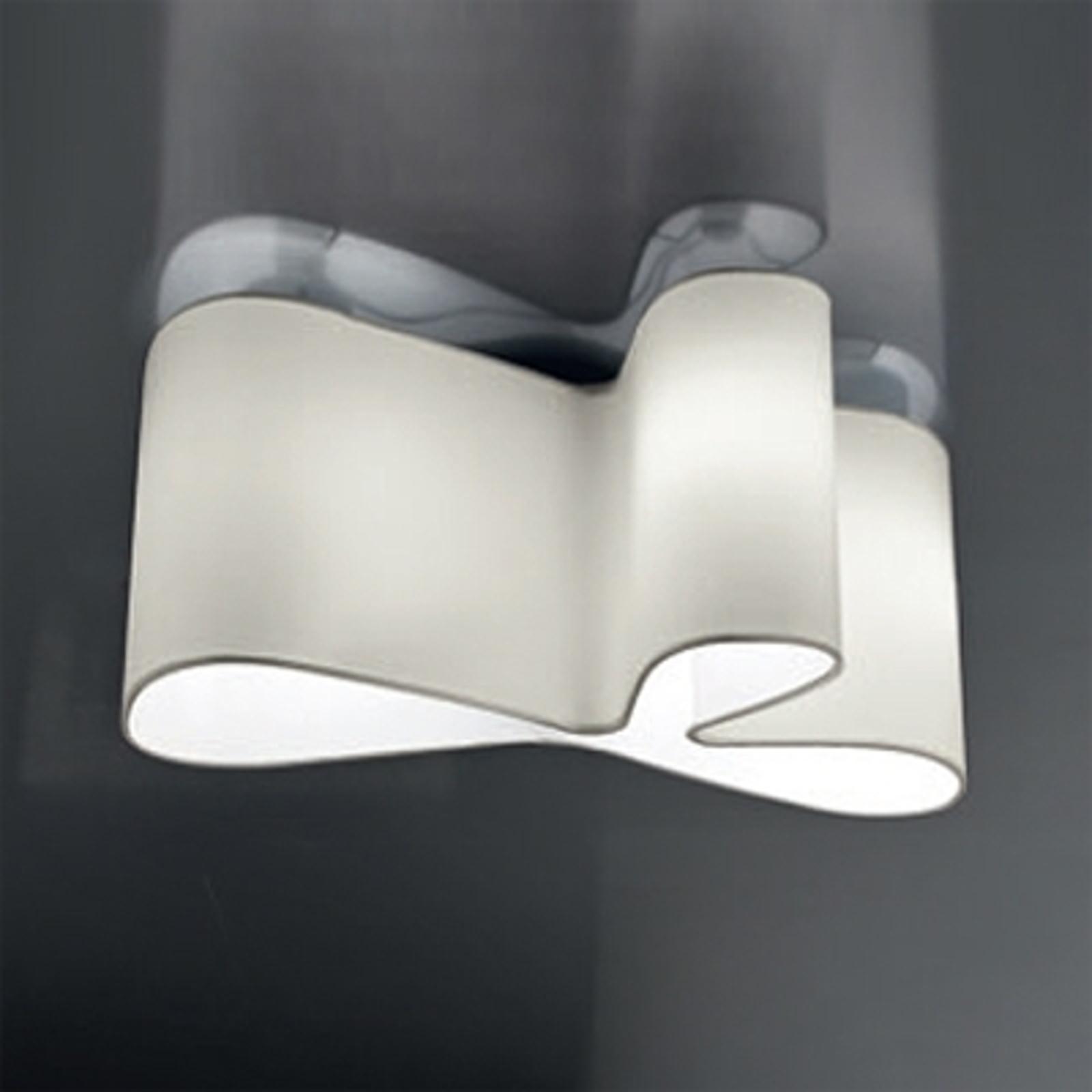 Attraktiv designtaklampe Mugello, hvit