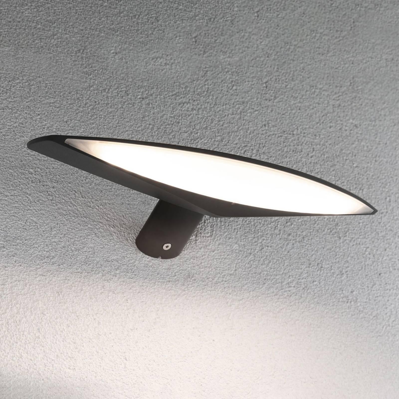 Paulmann Kiran solarna lampa ścienna 30cm antracyt