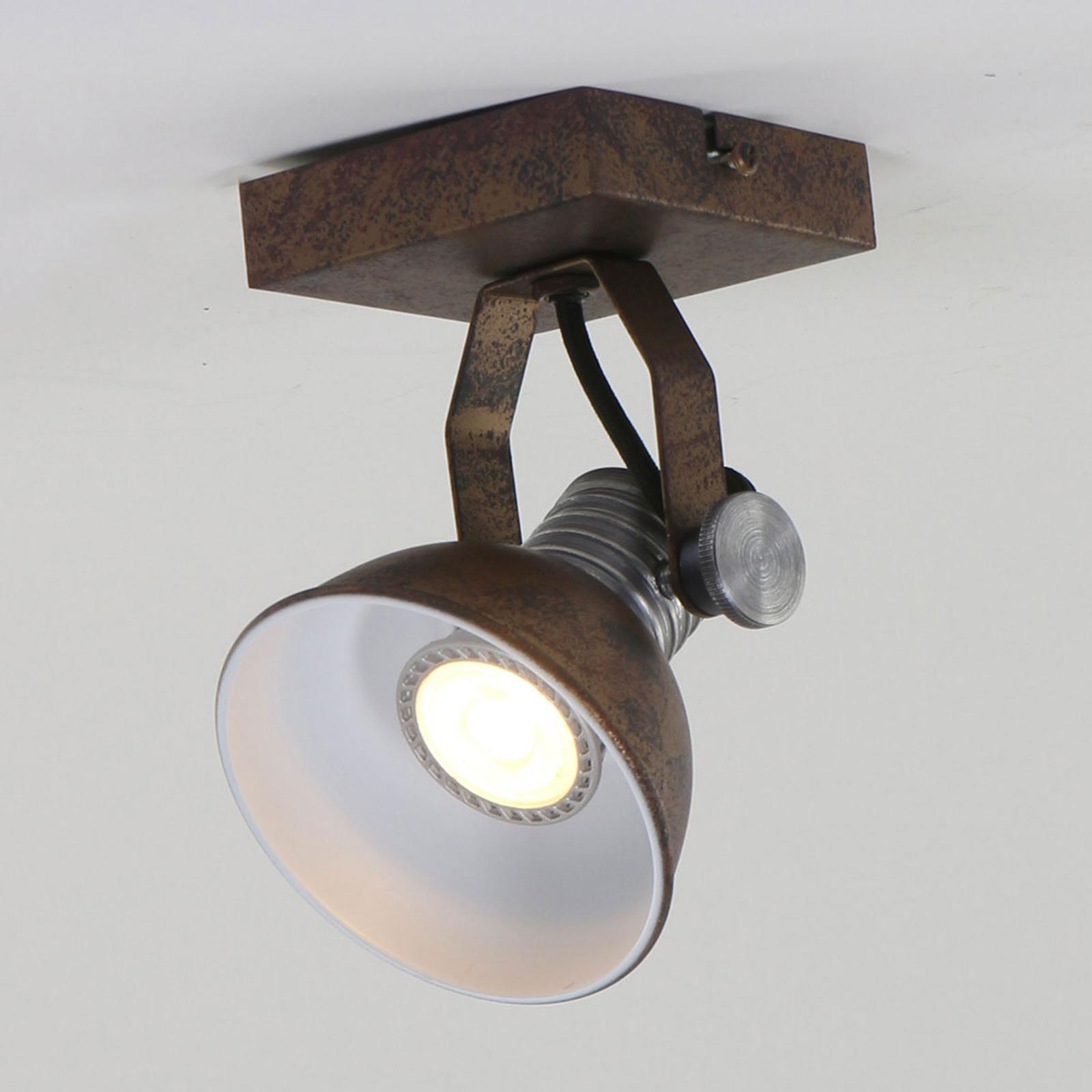 LED-Strahler Brooklyn 1fl. braun