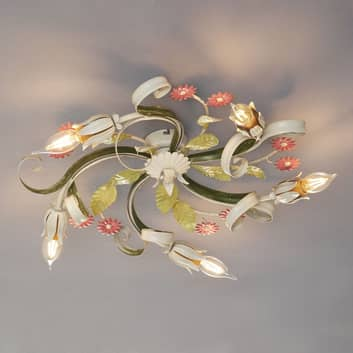 Plafoniera Toscana stile fiorentino, 5 luci