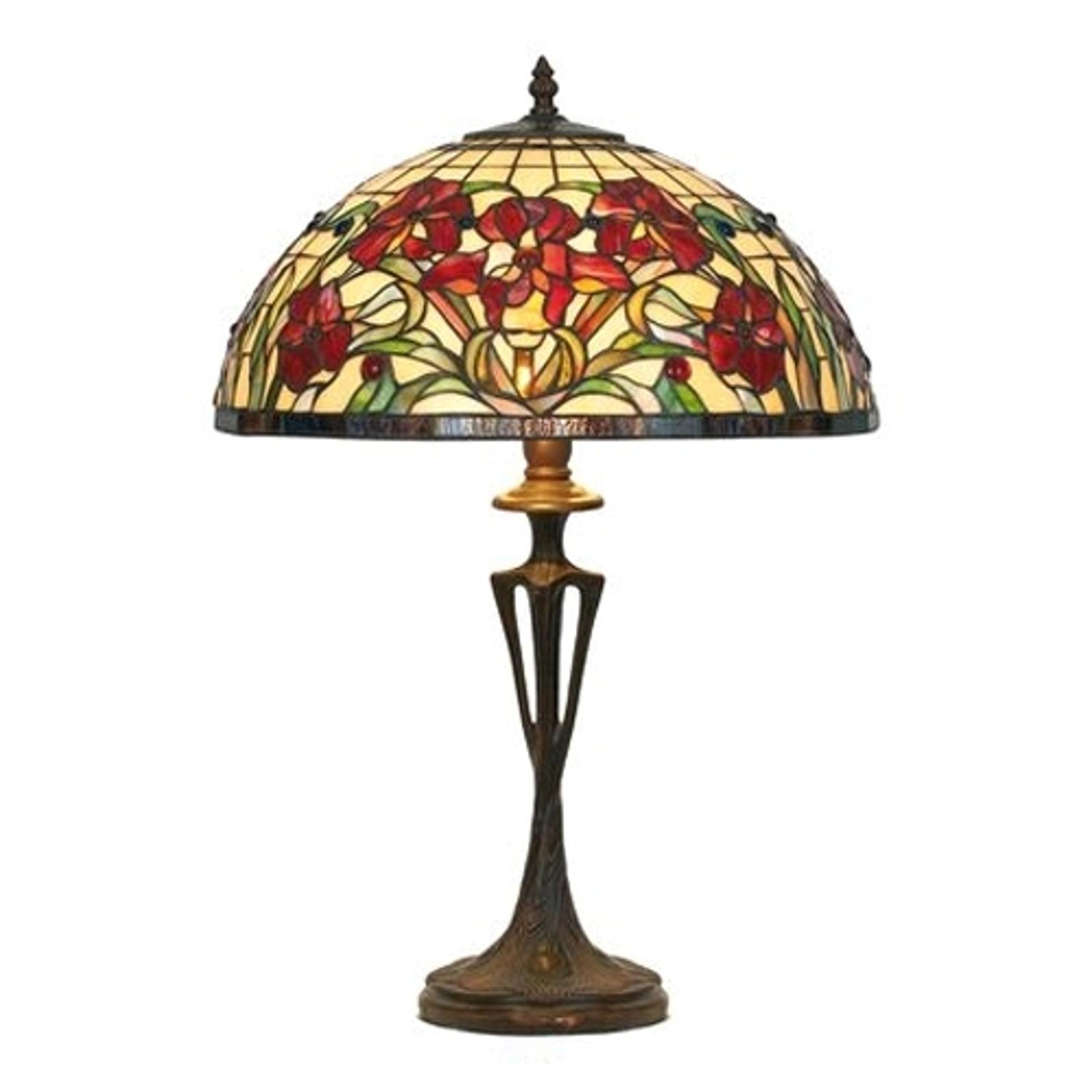 Lampada da tavolo Eline in stile Tiffany