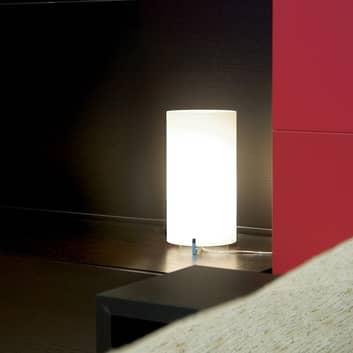 Prandina CPL Small T1 Tischlampe chrom, Glas opal