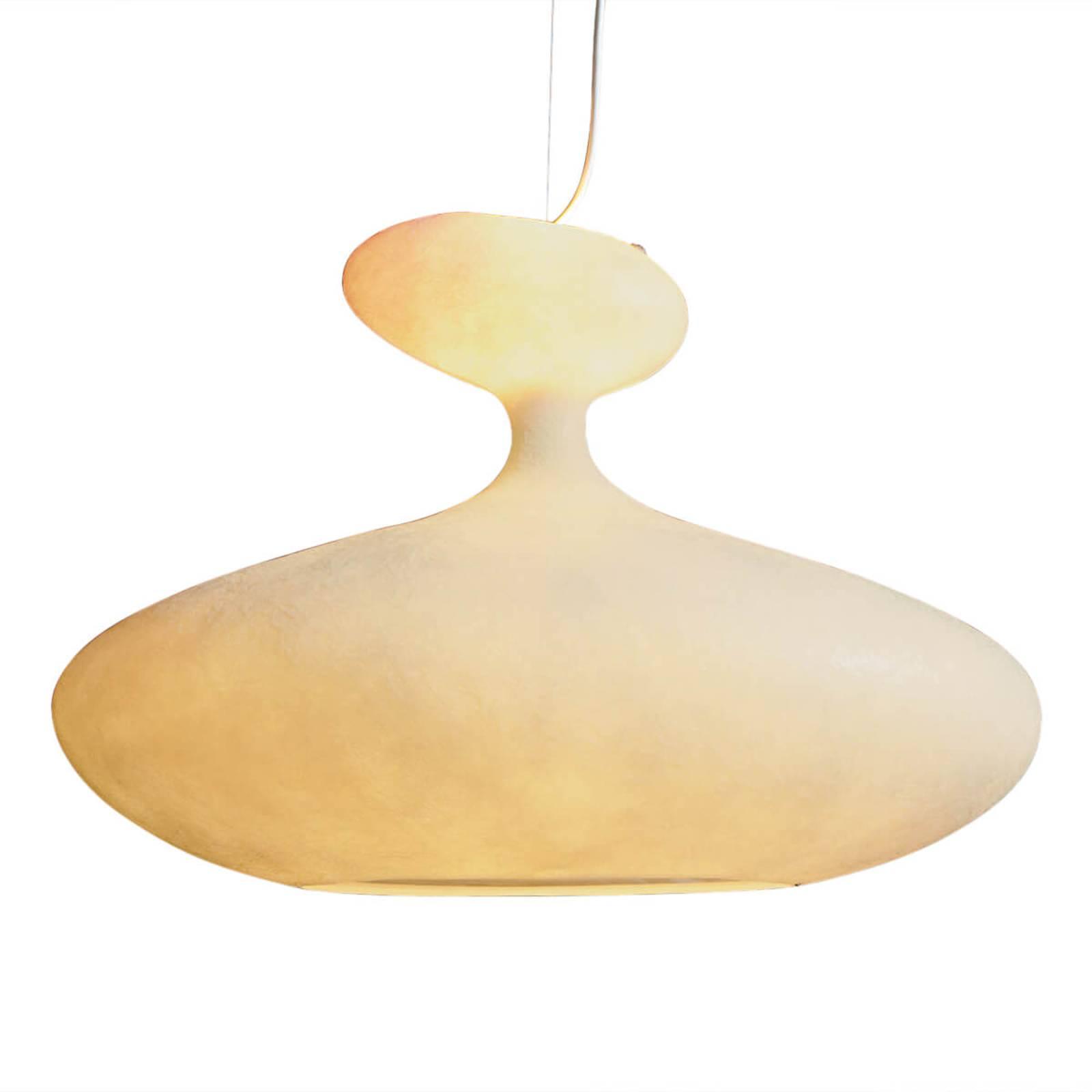 Obszerna lampa wisząca E.T.A. Sat biała