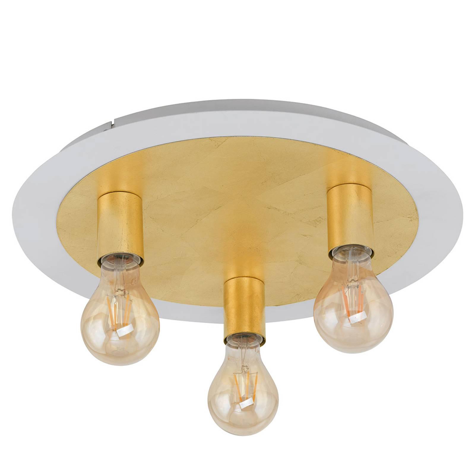 LED plafondlamp Passano 3-lamps goud