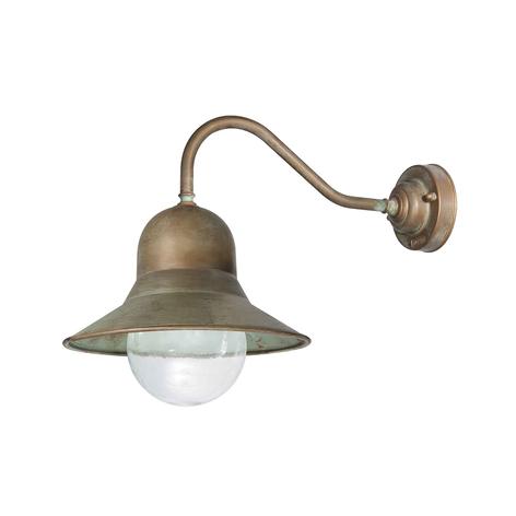 Außenwandlampe Campanula 2093 messing antik/klar