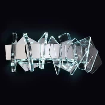 EOS - lampa ścienna LED z ozdobami szklanymi