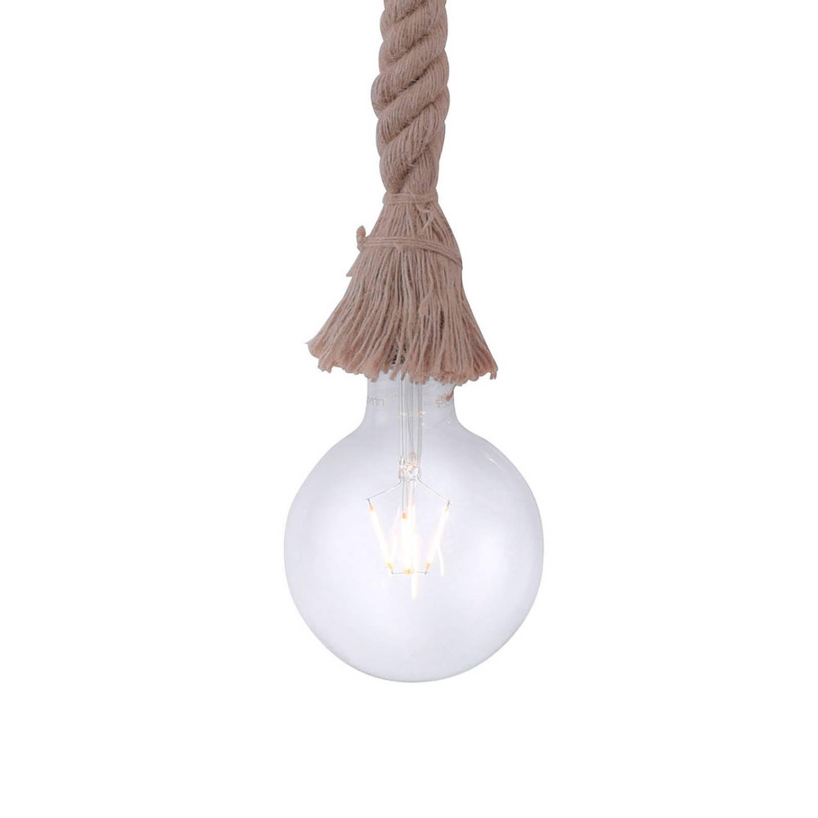 Lampa wisząca Rope z liną, 1-punktowa