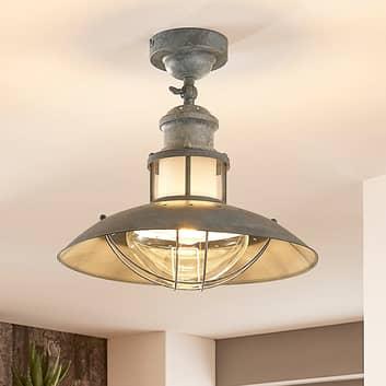 Betongrå loftlampe Louisanne, industristil