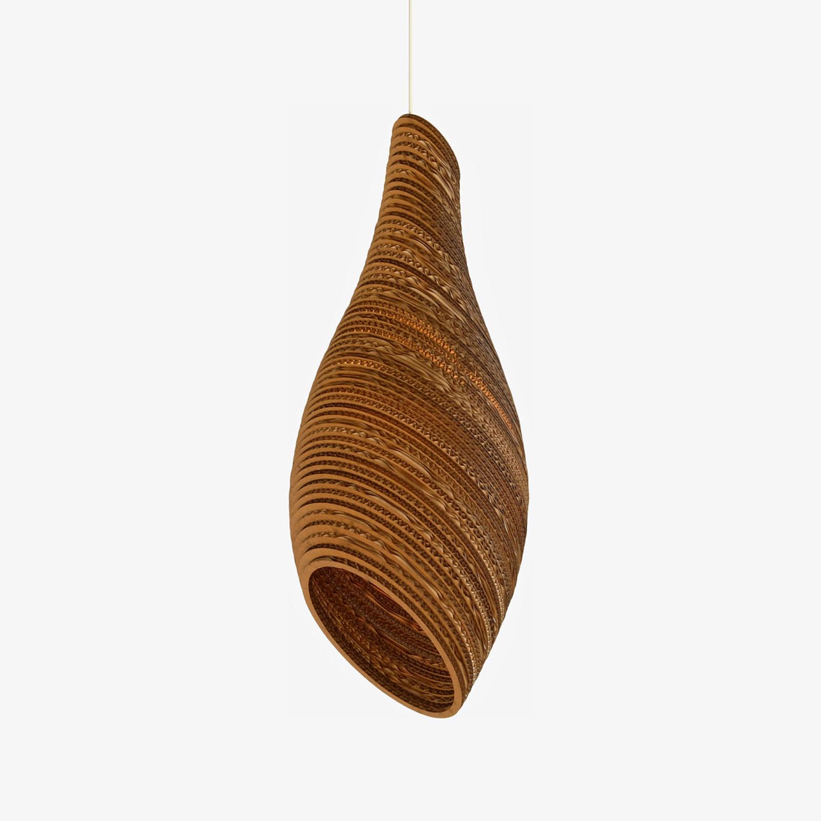 Nest24 hængelampe, brun