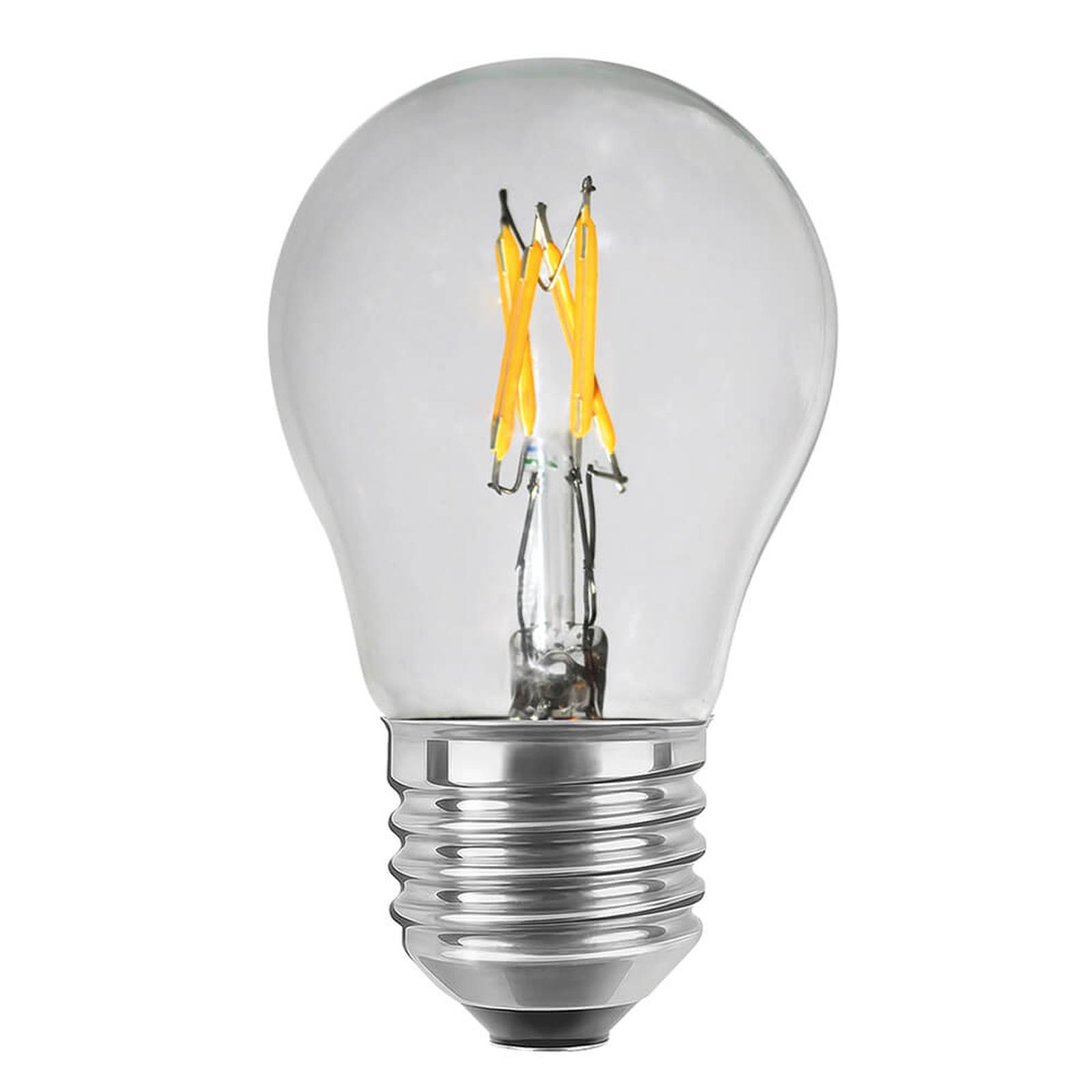 Ampoule LED E27 2,7W transparente, variable