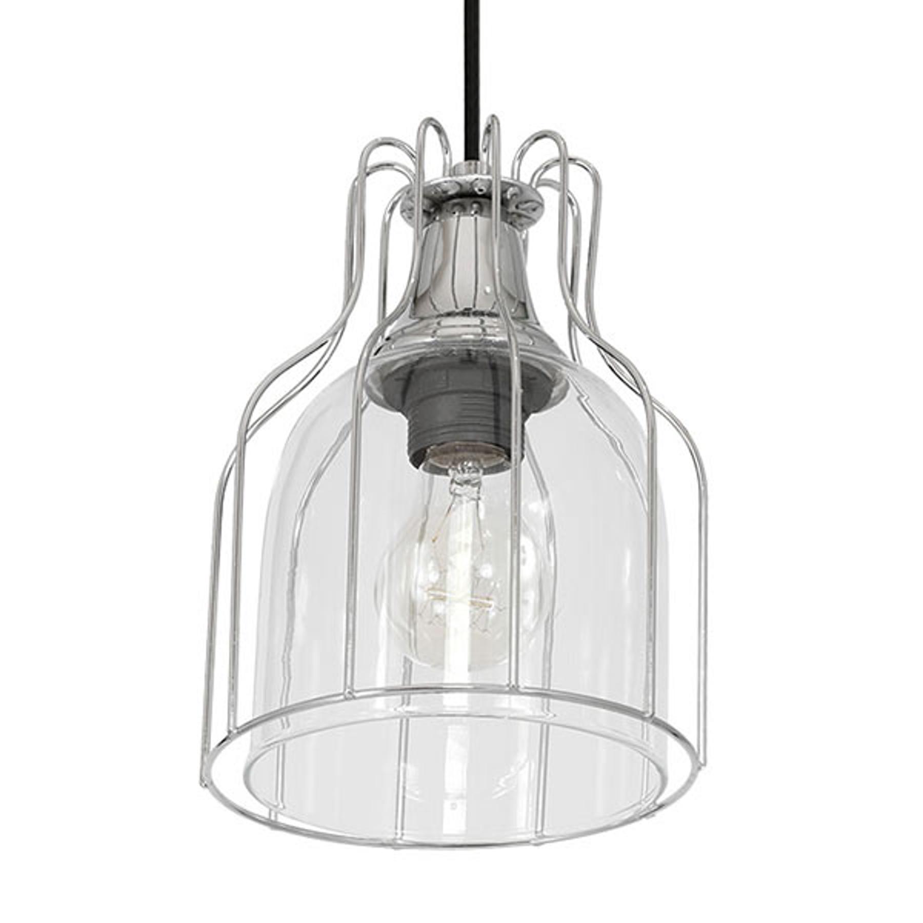 Lampa wisząca Aria 1-pkt. przezroczysta/czarna