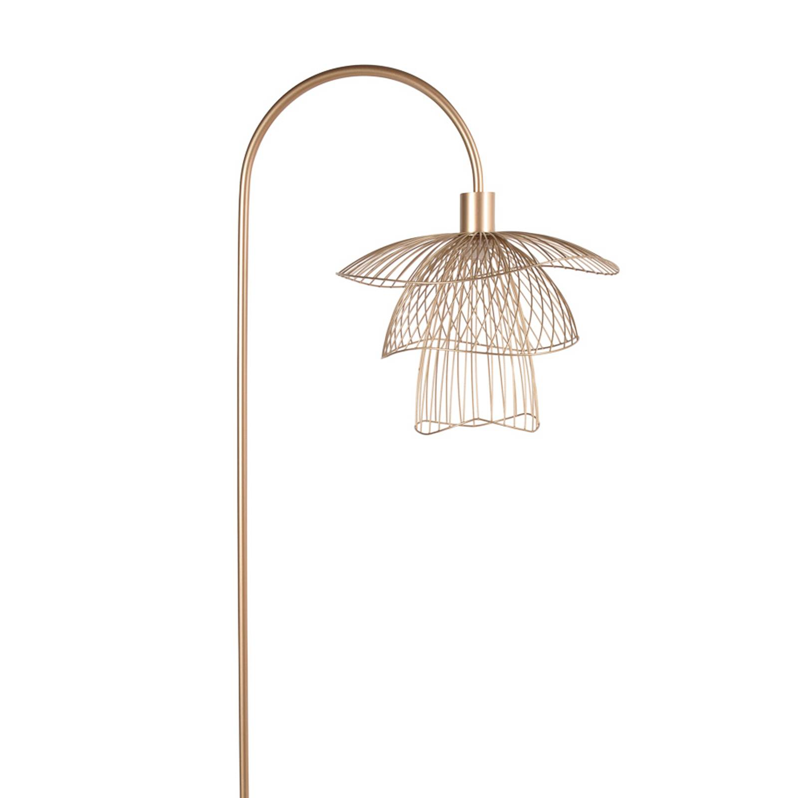Forestier Papillon lampadaire XS, champagne