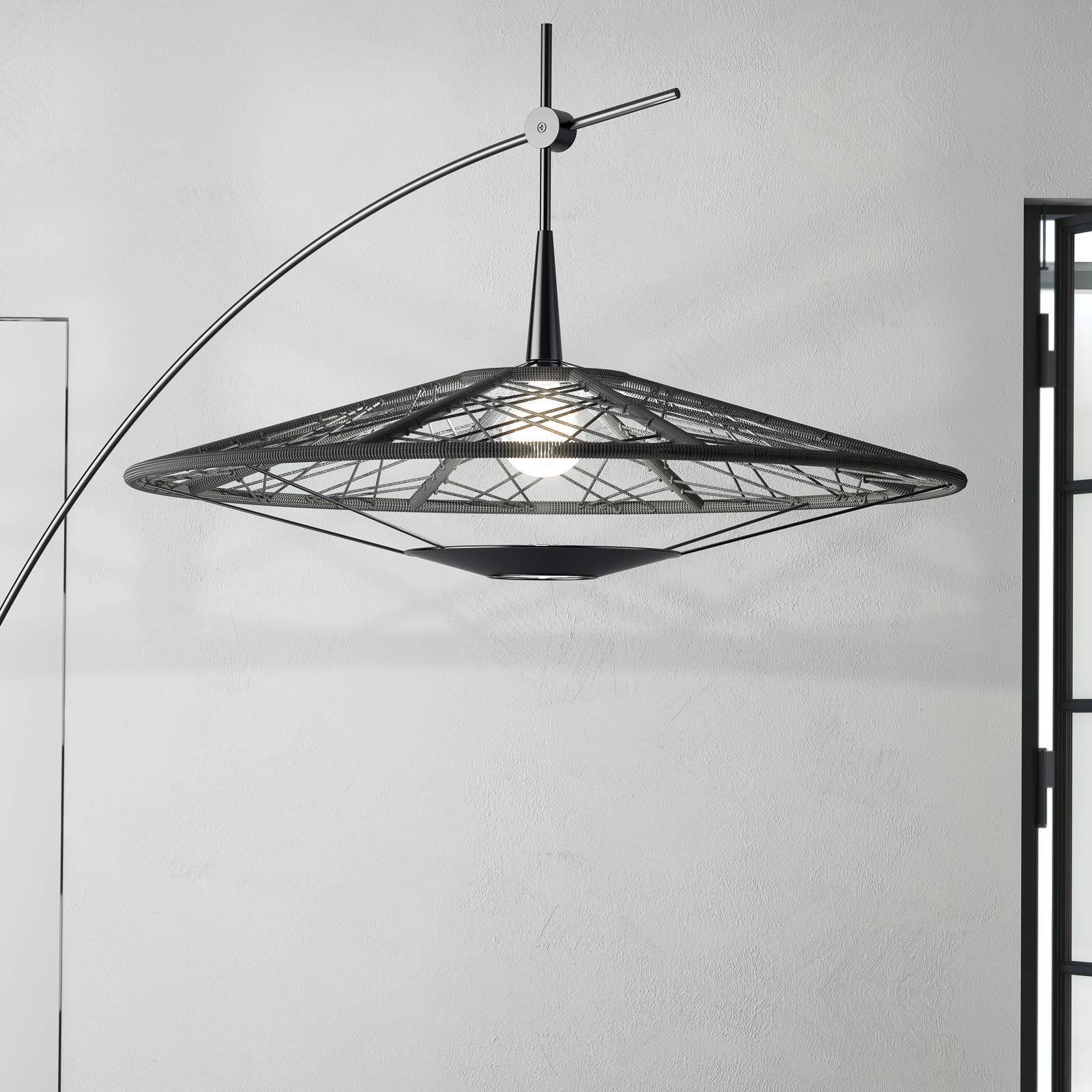 Forestier Carpa vloerlamp, zwart, hoogte 200 cm