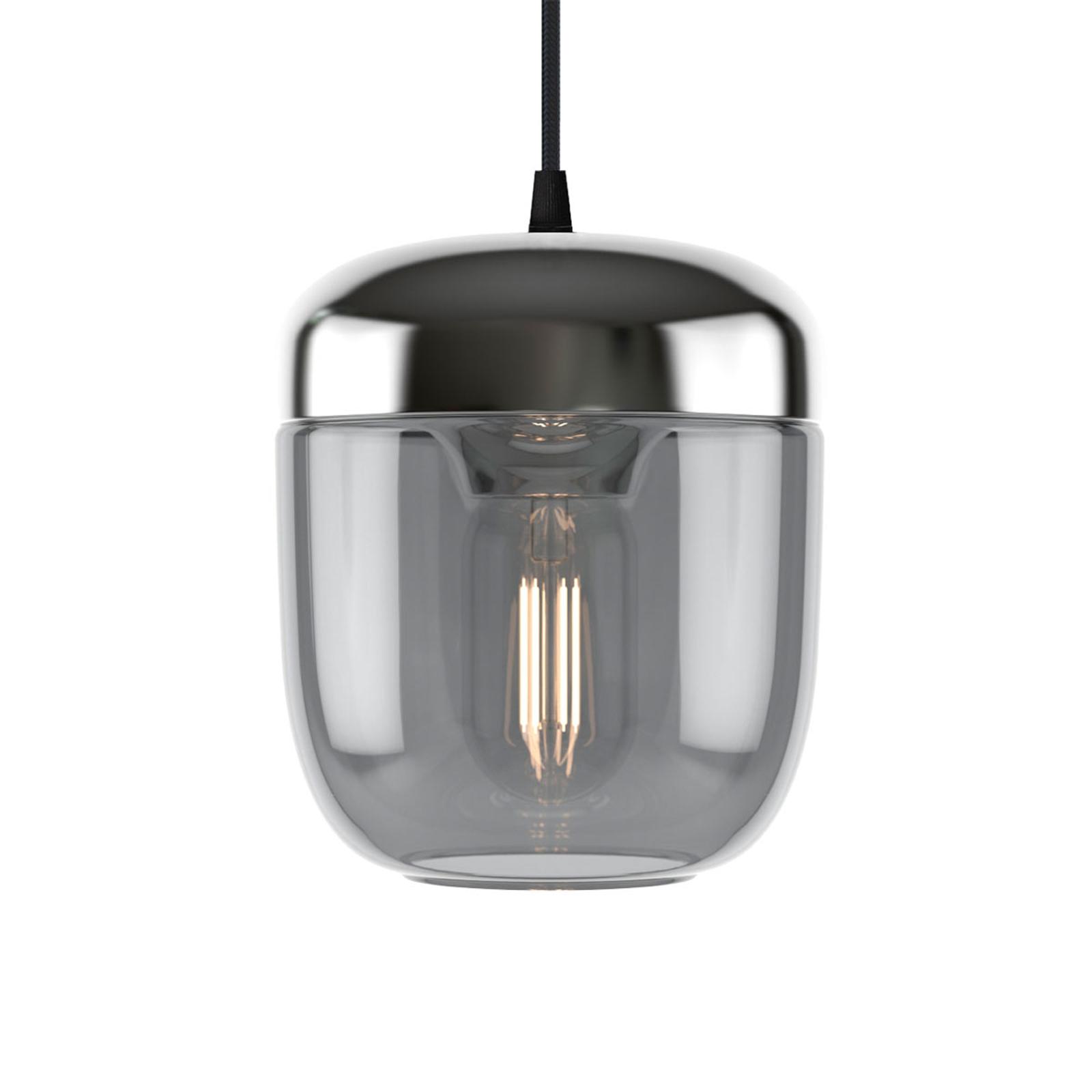 UMAGE Acorn suspension à 1 lampe gris fumée acier