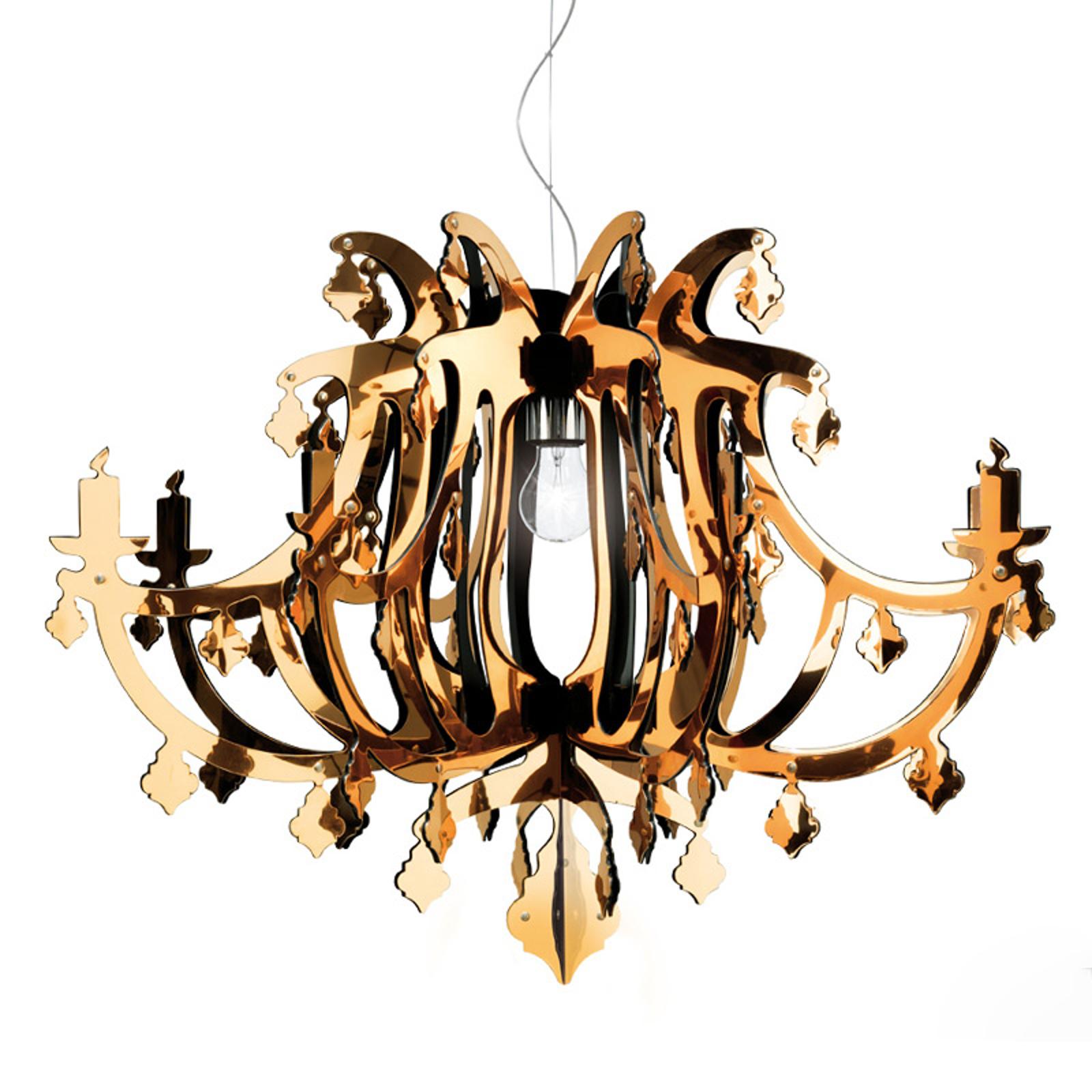 Złota designerska lampa wisząca GINETTA