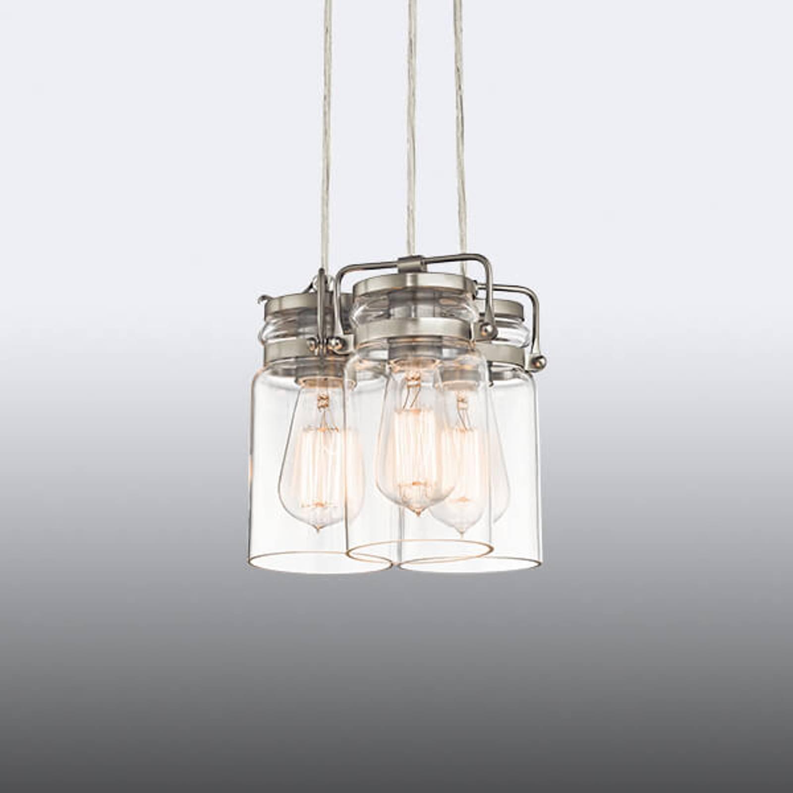 Brinley - suspension à trois lampes au look rétro