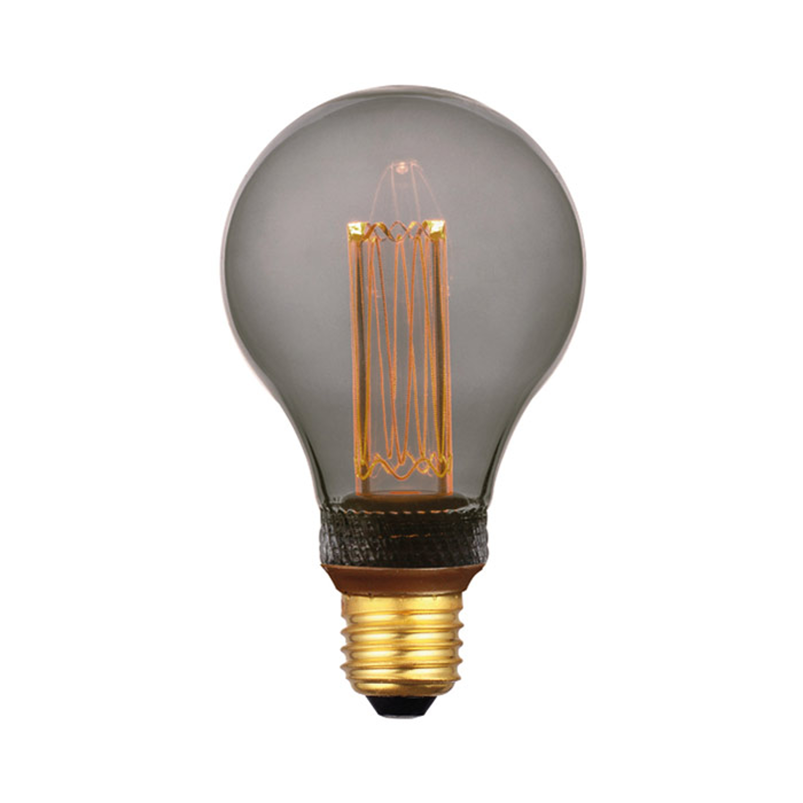 LED-pære E27 5W, varmhvit, 3-trinns dim, røyk 14cm
