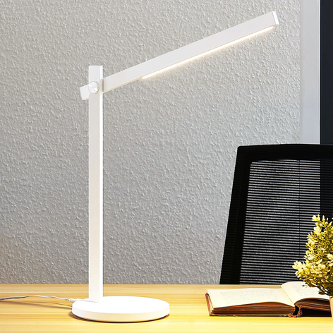 Lindby Loretta LED-Schreibtischlampe, CCT, weiß
