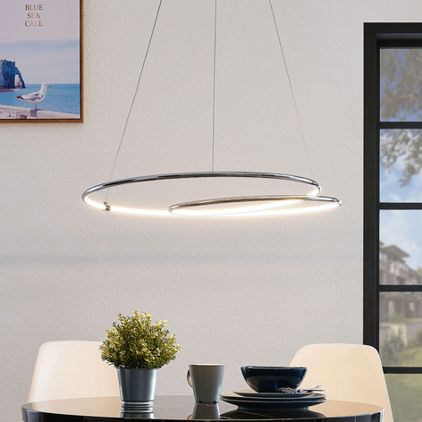 Lindby Lucy LED-hengelampe, 70 cm, krom