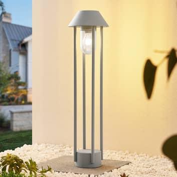 Lucande Olinum gatelampe, sølvgrå