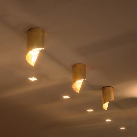 Knikerboker Hué LED plafondlamp 8x15cm bladgoud