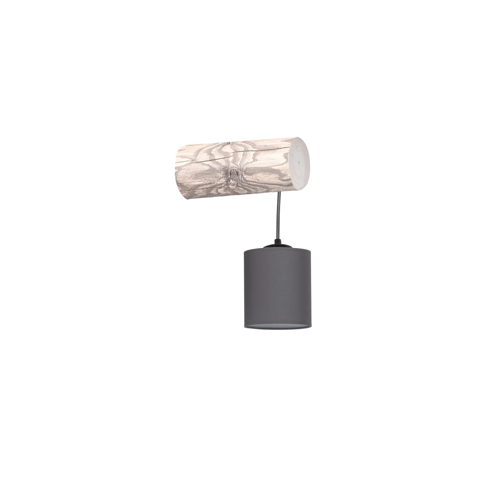 Furesta væglampe, grå, antracit skærm