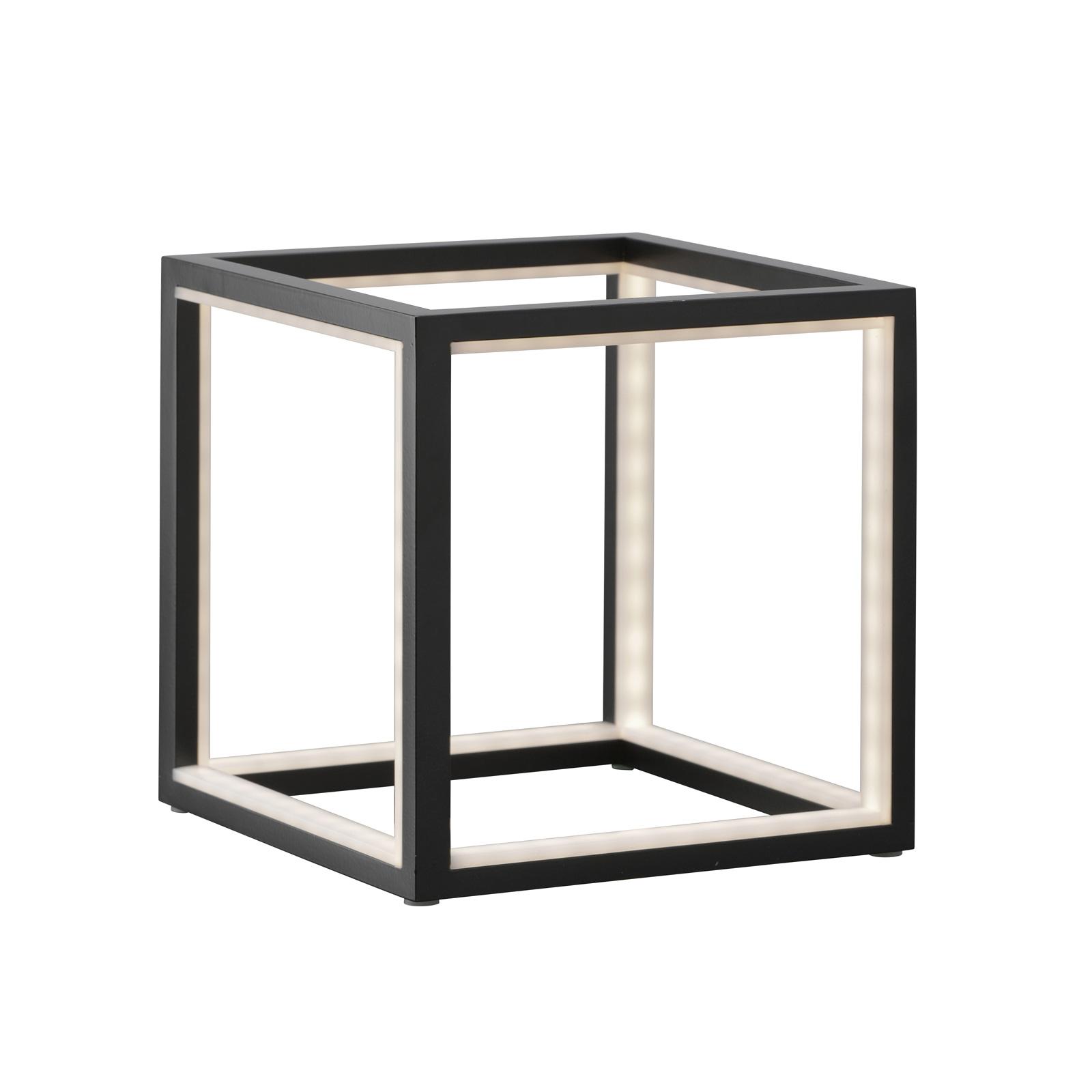LED tafellamp Delux, zwart, 20 cm