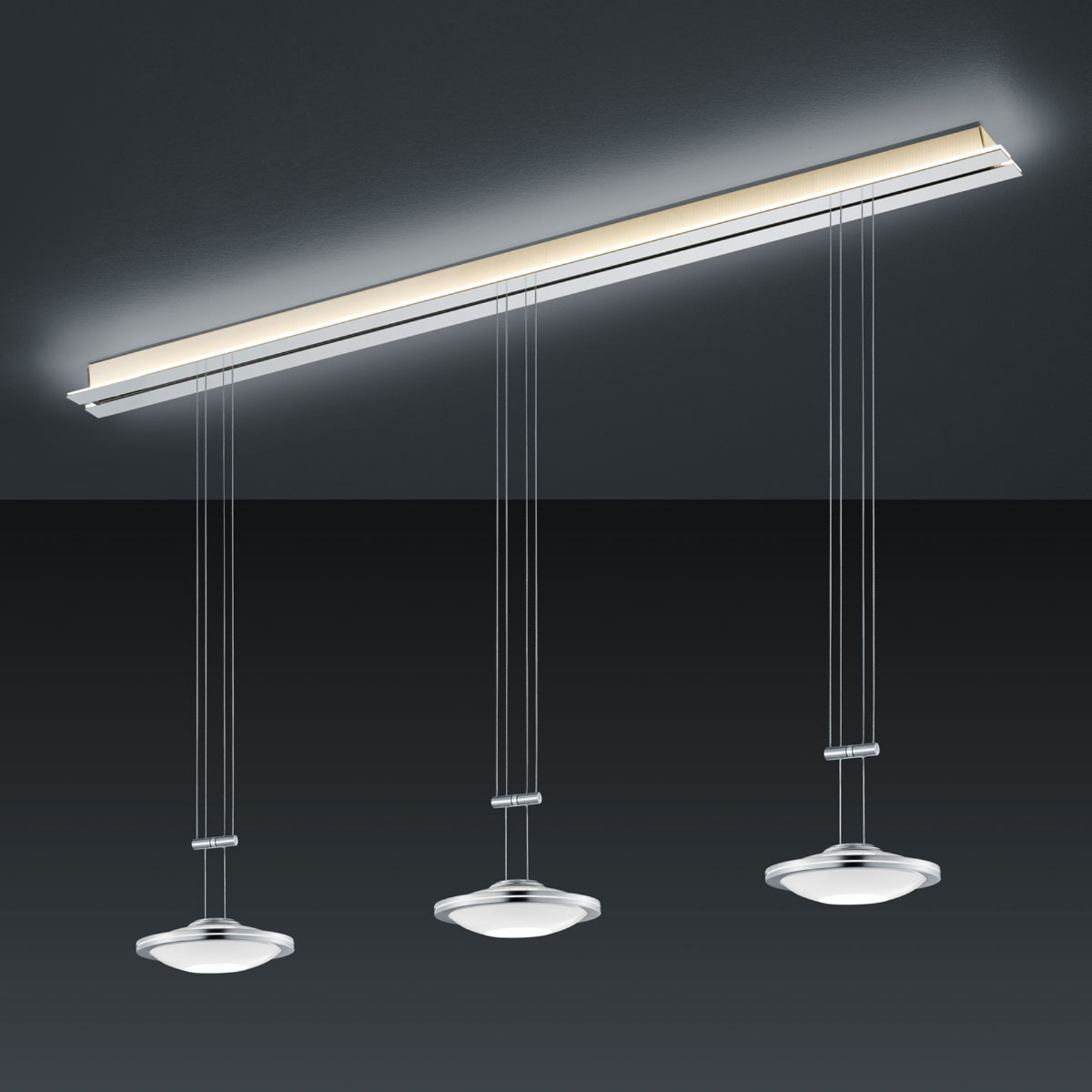 BANKAMP Strada Saturno suspension 3 lampes, 155 cm