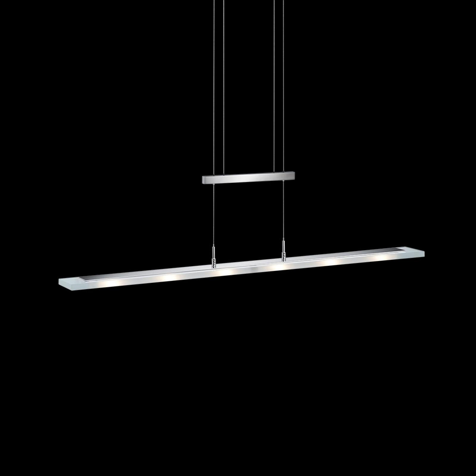 Nala - ściemniana lampa wisząca LED nikiel