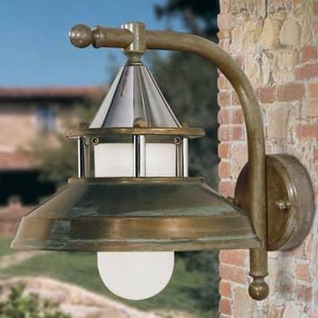 Antique væglampe, højde 30 cm, antik-kobber