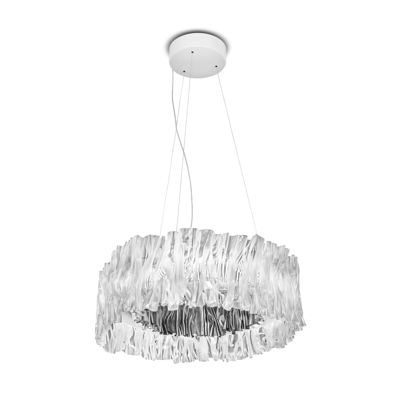 Slamp Accordéon lampa wisząca LED srebrna 3000 K