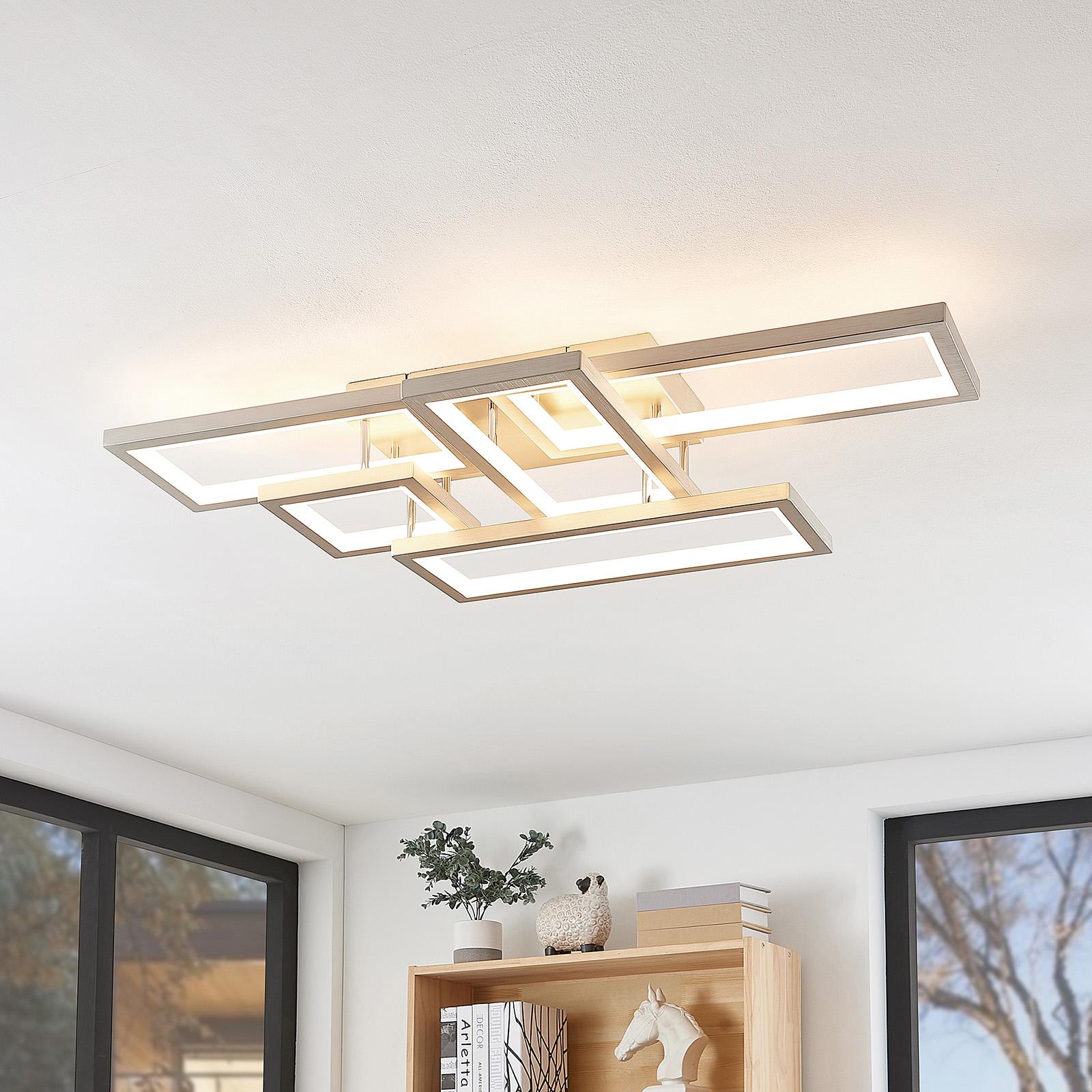 Lucande Avilara plafonnier LED aluminium, dimmable
